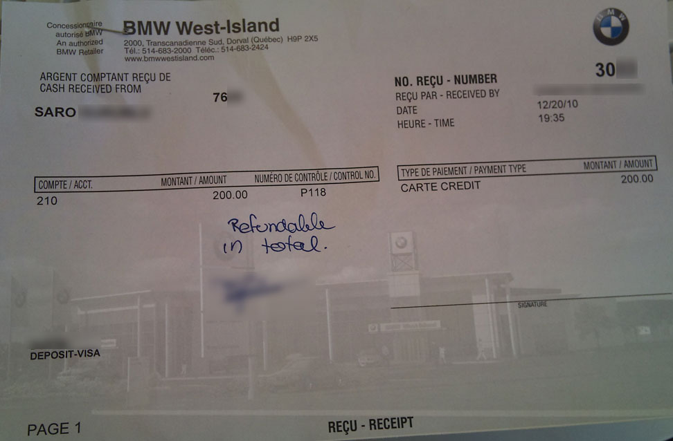 Worksheet. Why you shouldnt buy your next car from BMW West Island  ask saro